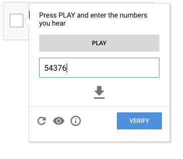 press play and enter the numbers you hear