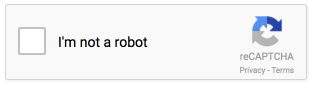 reCAPTCHA checkbox met label I'm not a robot