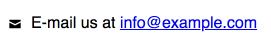 e-mail icoon met tekst en link ernaast