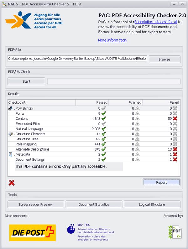 screenshot dialoogvenster PAC
