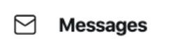 icoon envelop, naast het woord message