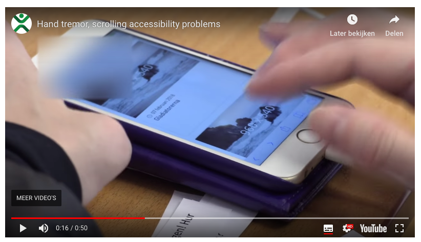 youtube tremor and scrolling