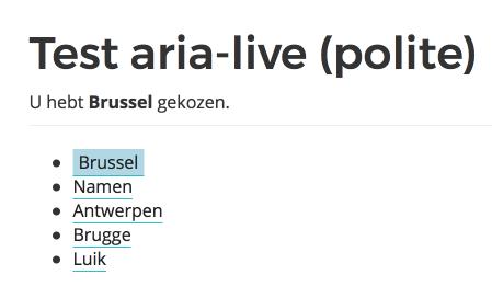screenshot aria-live demopagina