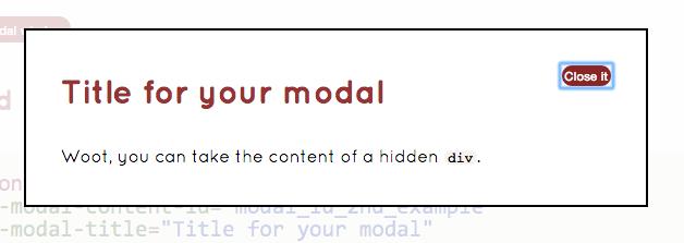 modal dialog