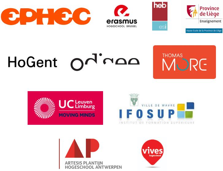 Logo's van scholen die deelnemen aan toegankelijkheidsmonitor