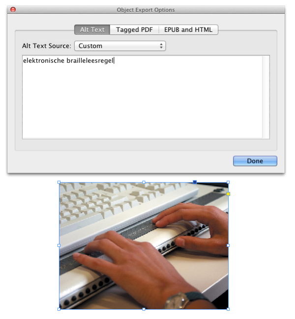 dialoogvenster object export options