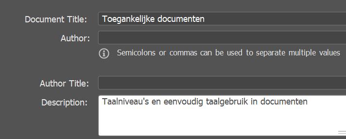 dialoogvenster file info