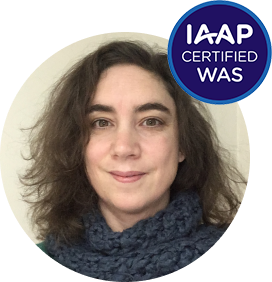 photo de profil de Sophie avec le label IAAP WAS certified